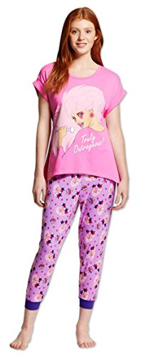 Briefly Stated Jem And The Holgrams Pink Pajama for women (X-Large)