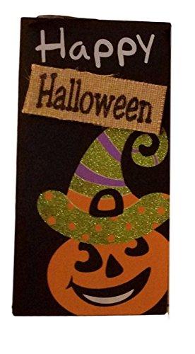 Yard Signs Halloween Wall Door Glittery Happy Halloween Plaque (Pumpkin) (Happy Halloween Plaque)