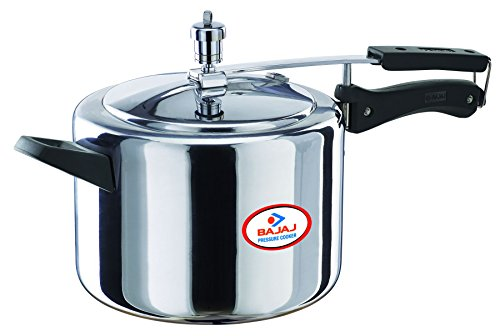 41mcuInf21L - Bajaj Majesty Pressure Cooker with Inner Lid, 5 Litres  at 57% off