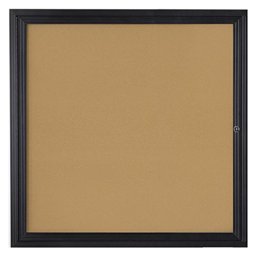 (Wall Mounted Enclosed Bulletin Board with Locking Hinged Door, 36