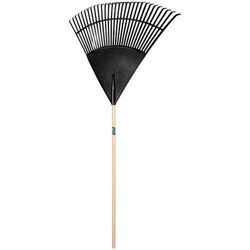 Lawn & Leaf Rakes - plrt30 30'' poly leaf rake w/48'' handle, Black by Union Tools
