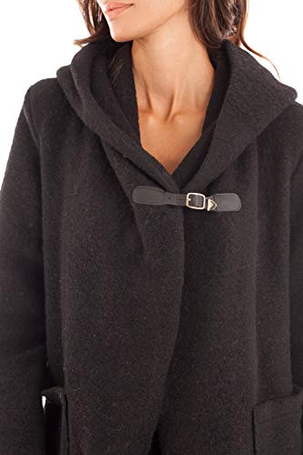 Manteau Capuche Creations Hiver Noir Long Doucel Femme Oqqwfx5AS