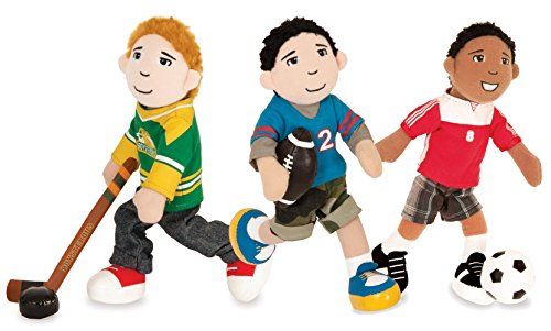 Boysterous Boys Magnetic Poseable Sports Plush Action Figure