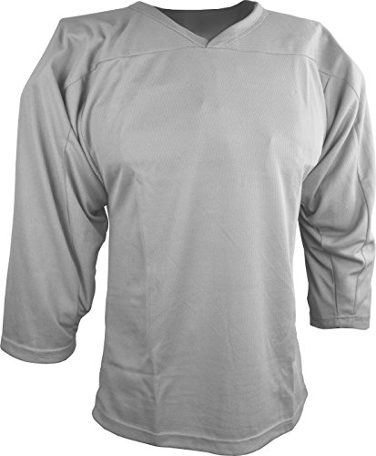 Sports Unlimited Youth Hockey Practice Jersey, Silver, S/M