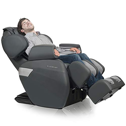 RELAXONCHAIR [MK-II Plus] Full Body Zero Gravity Shiatsu Massage Chair with Built-in Heat and Air Massage System - Charcoal (Best Full Body Stretches)