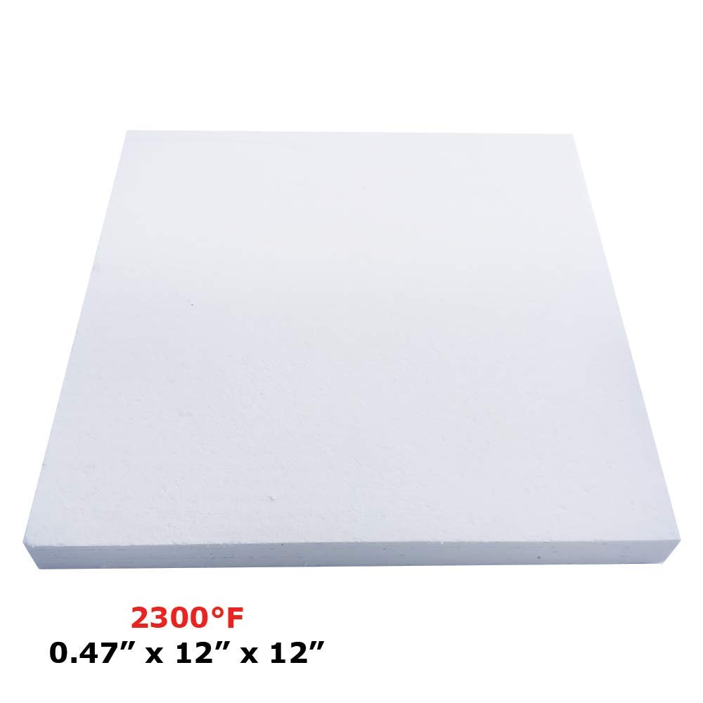 Thermal Insulation Board (2300F) (0.47'' X 12'' X 12'') for Wood Ovens, Stoves, Forges, Kilns, Furnaces by Simond Store