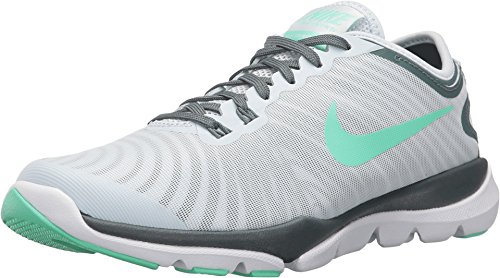 NIKE Womens Flex Supreme TR 4 Cross Trainer (7 B(M) US, Blue Tint/Green Glow-Hasta)