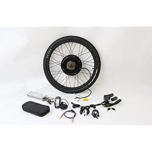 """41mcvqqN4RL. SS300 HalloMotor European Union Delivery 48V 1500W / 36V 1200W 26"""" Rear Wheel eBike Conversion Kits with LCD Display Support 5V Mobile Phone Charge"""