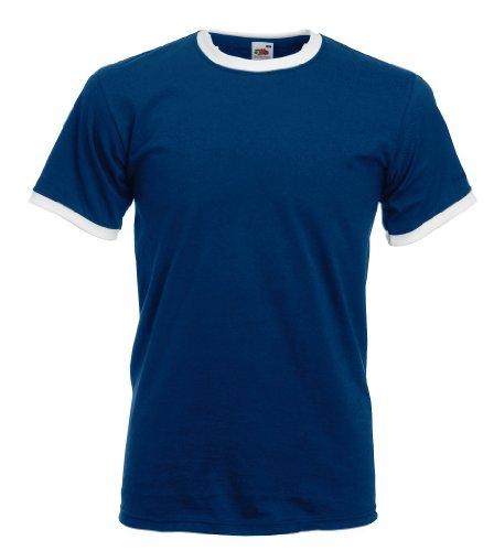 Ringer T-Shirt, Farbe:Navy/White;Größe:L