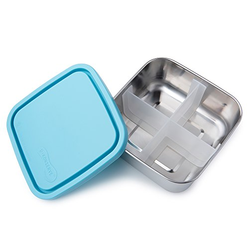 U Konserve - Divided To-Go, Stainless Steel with Removable Dividers, Multiple Containers in One, Ideal for Lunches, Picnics and Travel, Dishwasher Safe (Medium, - Steel Box Stainless Planet Lunch