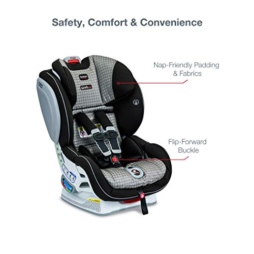 41mcwe%2BMF L - Britax Advocate ClickTight Convertible Car Seat | 3 Layer Impact Protection - Rear & Forward Facing - 5 To 65 Pounds, Venti