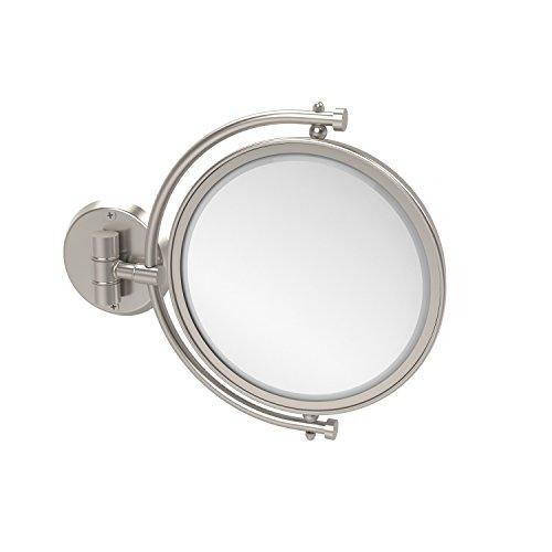 allied brass WM-4/3x tapas 20.3cm espejo con aumento de 3x se extiende 17.8cm, níquel satinado