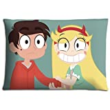 16x24 inch 40x60 cm livingroom pillow shells cases Polyester Cotton Perfect BACTERIA RESISTANT Star vs. The Forces of Evil