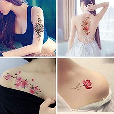 FACAILE Pegatinas De Tatuaje Floral Niña Rosa Sexy Corrector De ...