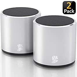 [2 Pack] HeadSound H2 True Wireless Bluetooth Speakers, Latest Powerful Dual Twin Portable Mini Speaker Set w/Surround…