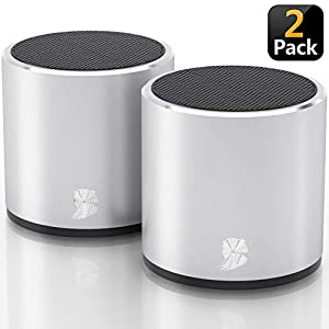 [2 Pack] HeadSound G2 Portable Wireless Bluetooth Speakers, Latest Powerful Dual True Wireless Mini Speaker Set w…