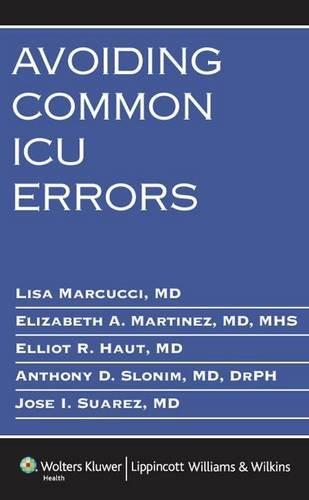 Avoiding Common ICU Errors by Brand: Lippincott Williams Wilkins