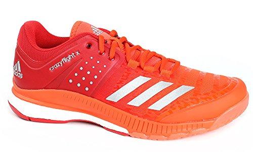 Adidas Mannen Gek Vlucht X Volleybal Schoenen, Rood / Wit, Diverse Kleuren (escarl / Plamet / Energi)