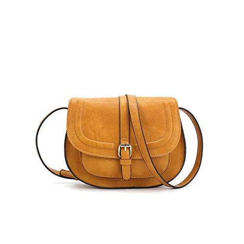 Designer Round Charms - Women Crossbody Satchel Bag Small Saddle Purse and Tote Shoulder Handbags