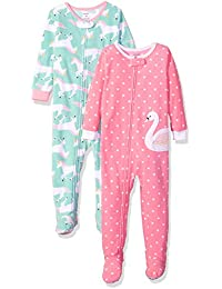 Baby and Toddler Girls  2-Pack Fleece Footed Pajamas 2d76d55e0