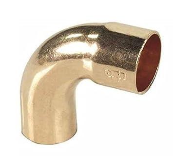 Tubería en codo de cobre arco de soldadura macho de diámetro x 90 grados de ángulo de 18 mm hembra: Amazon.es: Bricolaje y herramientas