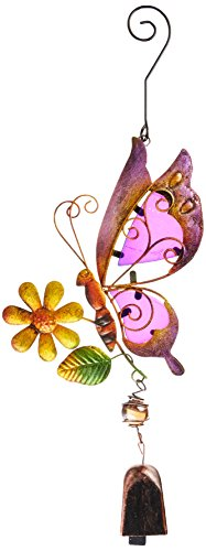 Regal Art & Gift Purple Butterfly Ornament with Bell For Sale