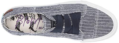 Blowfish Malibu Women's Marley Sneaker, Navy Hammock Stripe Print, 7.5 M US