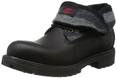 Timberland Men's Roll Top LF Chukka Boot,Black/Plaid,9.5 M US