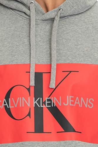 Jeans Uomo Grigio Felpa Autunno J30j307745 inverno Melange Calvin Klein 5wvtt