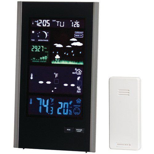 Taylor 1740 Digital Color Weather Station with USB Charger -