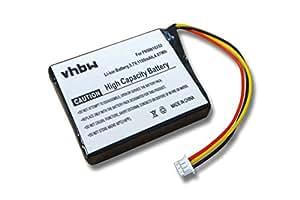 vhbw batería 1100mAh (3.7V) para Navi Navigation TomTom 4K00.100, 4N00.004, 4N00.005, 4N00.006, 4N00.012, 4N01.000, NVT2B225 por F650010252,F709070710
