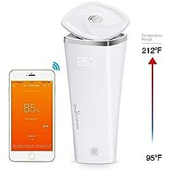 SmartShow Cups Smart Mug Smart Temperature Adjustable & Preservable Mug I-Touch Plus (White)