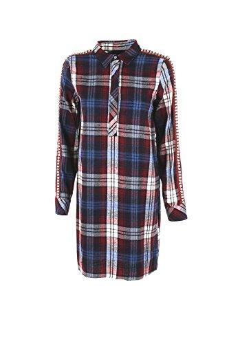Camicia Donna Shiki M Blu/bordeaux 17isk34436 Autunno Inverno 2017/18