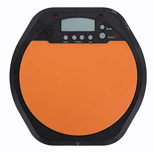 Drum Metronome Digital LCD Display Drummer Pad Digital Electric Electronic Drum Simulation Pad Digital Electronic Drummer Training Practice Drum Pad Metronome for Beginner (Does Not Include Battery)