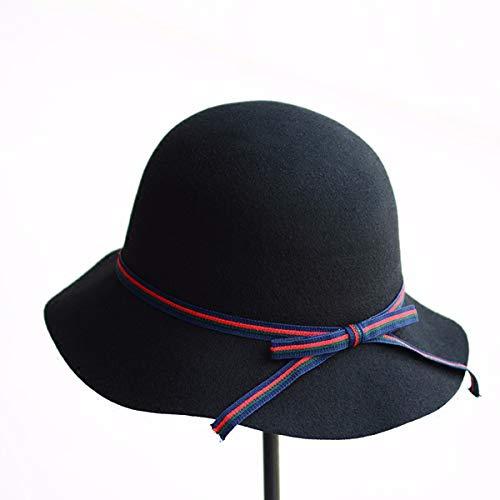 Rayas Hat Invierno De Pescador Cysjw Bowler Ladies' Otoño Arco Ondulado Dome Cuenca Y Joker en E Sombrero qn4wTp7