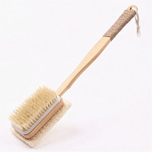 B&Y Natural Boar Bristle and Towel Gourd Bath & Body Brush