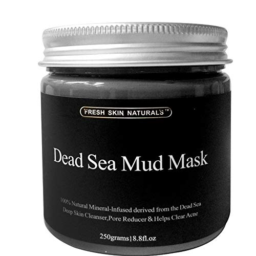 DISAAR BEAUTY Dead Sea Mud Mask for Face and Body Deep Pore Cleansing, Acne Treatment, Anti Aging and Anti Wrinkle, Organic Natural Facial Mask for Smoother and Softer Skin (250g./8.8oz.)