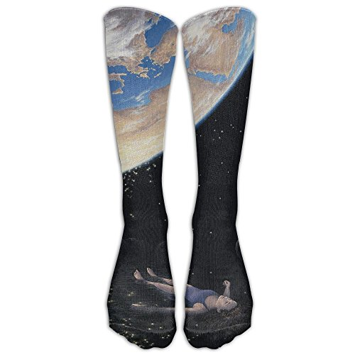 Mr.Roadman Look At The Blue Sky and Enjoy Freedom Knee High Socks Casual Stockings Comfortable Novelty Sports Socks Size 6-10 (One - Victoria Shops Gardens At