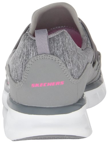 Skechers SynergyAsset Play - Caña baja de lona mujer gris - Grau (GRY)