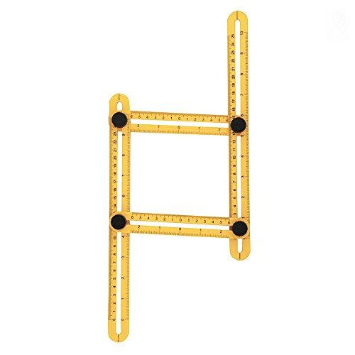 [해외]NVTED Angleizer 템플릿 툴, Four-Sided Ruler 멀티 앵글 Ruler 템플릿 마커 툴 모든 각도 및 폼 측정/NVTED Angleizer Template Tool, Four-Sided Ruler