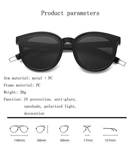 Polarizadas Gafas Clásica La Negro Grande Gestión Unisex Redondas Retro De De Sol Retro Tendencia UV Gafas Caja WJYTYJ Moda CtYPq1