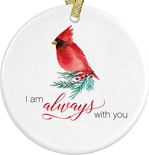 Amazoncom Christmas Red Cardinal I Am Always With You Ornament In