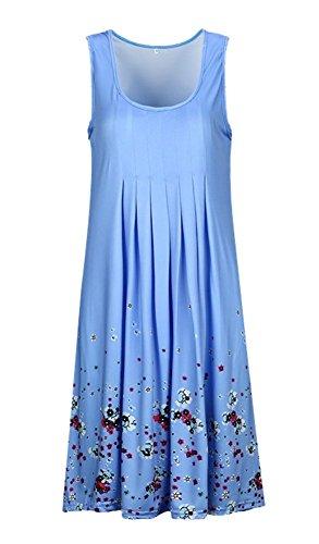 Rond B A Maillots Manches Up Plage Femme de Col t Lache Bleu sans Robe Bain Robe Bikini de Ligne Landove Casual Cover cw1qf8Cw