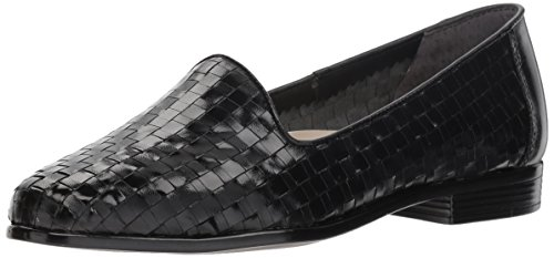 Trotters Women's Liz Loafer,Black,9.5 - Shoe Woven Leather Loafer