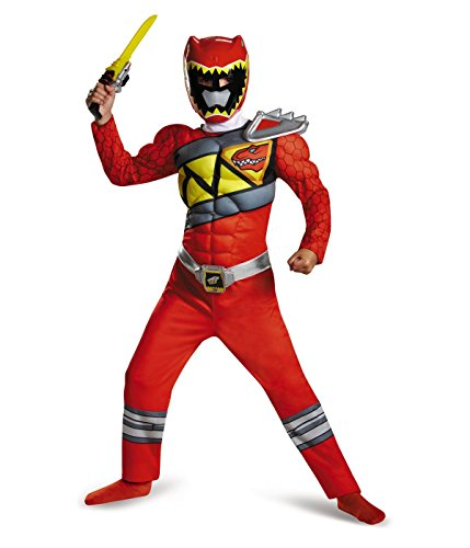 Big Boys' Red Power Ranger Dino Charge Muscle Costume Halloween Rangers (Dino Charge Costume)