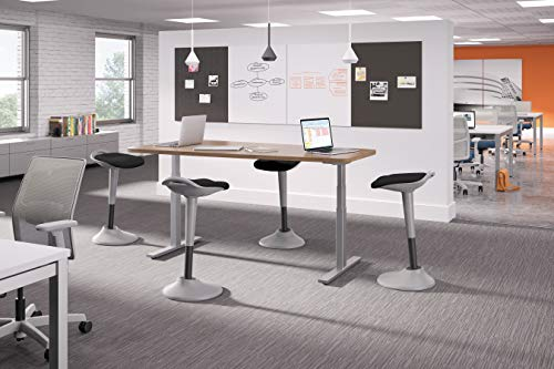 HON Perch Stool, Sit to Stand Backless Stool for Office Desk, Black (HVLPERCH) by HON (Image #9)
