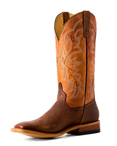 HORSE POWER by Anderson Bean HP1838 Sugared Tang Sugared Brass Square Toe Boots (10EE) Brown