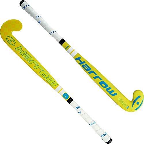 Harrow 29561934 Supreme C Field Hockey Stick, 34' Yellow/Blue
