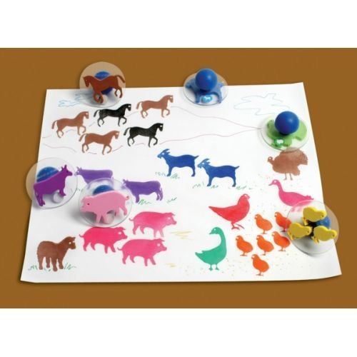 Center Enterprise CE6739 READY2LEARN Giant Farm Animals Stamps (Pack of -