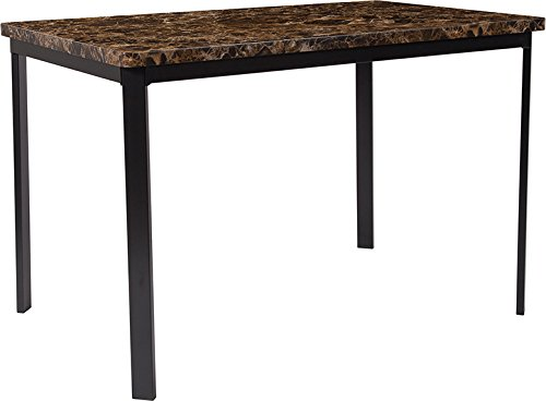 Flash Furniture HS-D01154TR-M004-GG Espresso Marble-Like Dining Tables, 30 in x ()